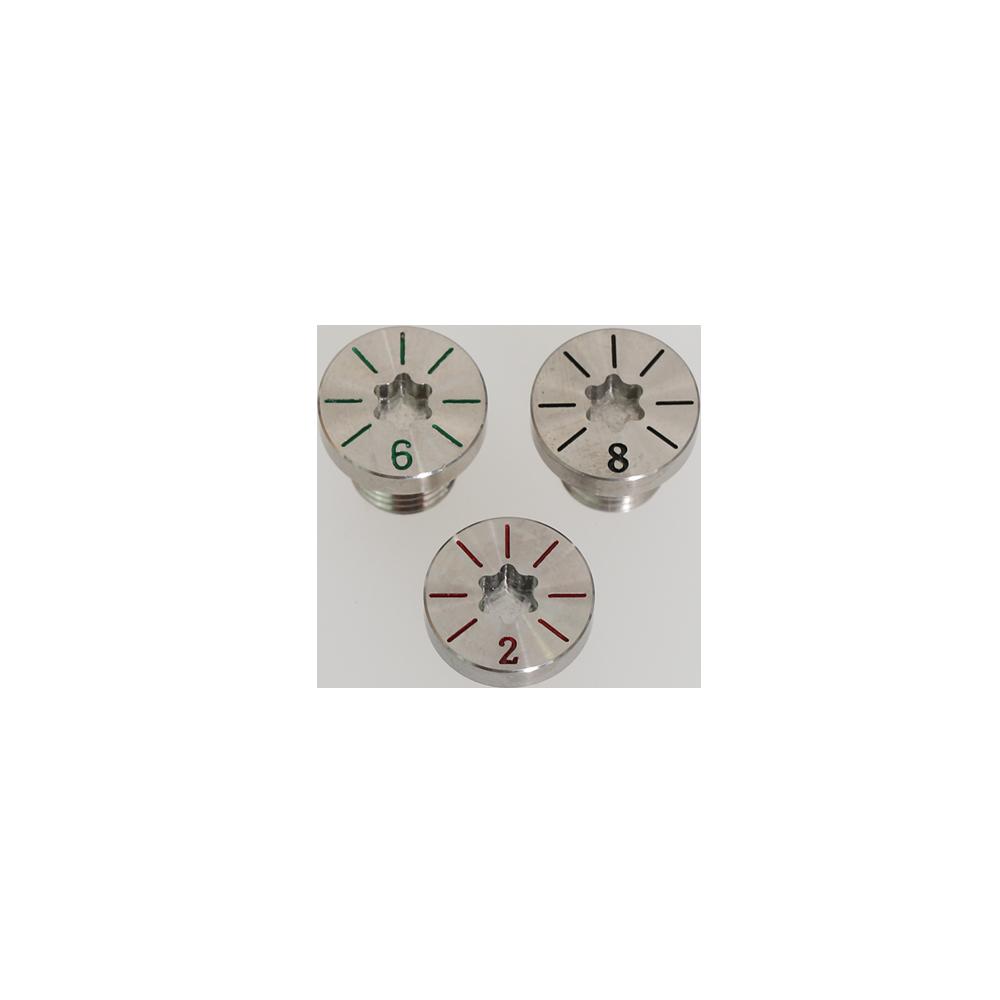 ウェイトネジ[2g, 6g, 8g※4gは標準装着](別売・各1,000円)